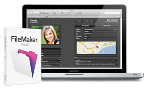 FileMaker 12 box and computer